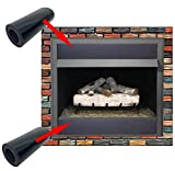 Neattec Magnetic Fireplace Draft Stopper- Fireplace Draft Guard Covers Fireplace Vent, Blocks Cold Air Prevents Heat Loss, Strong Magnet Fireplace Draft Cover (2 Pack 36x6)