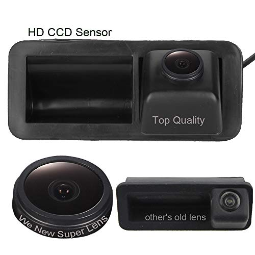 Dynavsal 1280 * 720 Pixel 1000TV Lines Super Pro HD Caméra de Recul, Imperméable Vision Nocturne Grand Angle Caméra de recul pour Mondeo/Focus Hatchback/Range Rover Freelander2/Mondeo MK4/CHIA-X