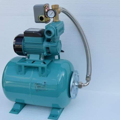 24 Liter Hauswasserwerk Pumpe WZ750 750Watt 7,8bar Fördermenge: 2880l/h + Druckschalter + Manometer + Rückschlagventil.