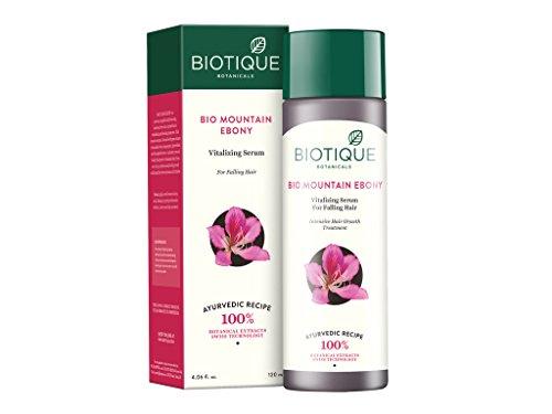 Biotique Bio Mountain Ebony Vitalizing Serum For Falling Hair Intensive Hair Growth Treatment, 120ML