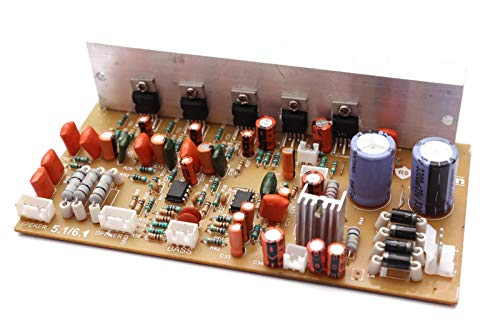 Electronicspices 5.1-6.1 Stereo Home Theater Kit Audio Amplifier Board with Connector and Bass Boost Support with 5 Transistor (TDA 2030, 150W)