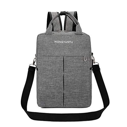 ZYDSD Bolso delgado y liviano for laptop, mochila for laptop, hombres, mujeres con puerto de carga USB, se adapta a una laptop y cuaderno de 15.6 pulgadas, gris (traje de dos piezas) Al aire libre, Ne