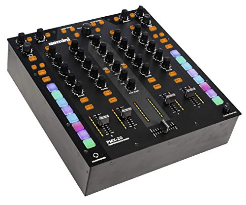 Gemini PMX-20 4 Channel Mixer All Metal Professional DJ Controller with RGB Performance Pads, MIDI and Innofader Ready Crossfader