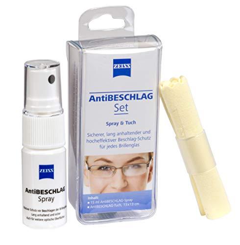 ZEISS - Set antiappannamento (spray 15 ml + panno), protezione efficace contro le lenti appannate