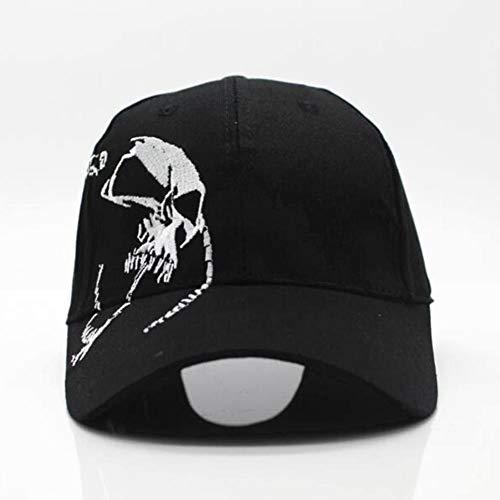 YIFEID Chapeau Homme Unisexe 100% Coton Crâne Casquette De Baseball Extérieur Broderie Mode Sport Snapback Chapeaux pour Les Hommes Et Les Femmes Cap,Noir