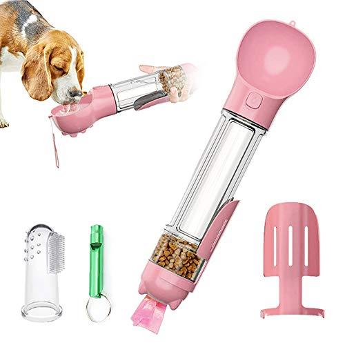 DryMartine® Hund Trinkflasche Haustier Wasserflasche 500ml,Tragbare Haustier Katze Travel Trinkflasche Hundetrinkflasche Wasserspender für Unterwegs(Rosa)