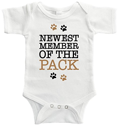 Starlight Baby Newest Member of The Pack Bodysuit (3-6 Months) White