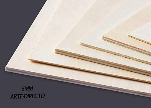 Tableros de contrachapado, Cortados a Medida. Fabricados en España. Calidad Profesional. (A2 / Espesor:5mm / 10 Tableros)