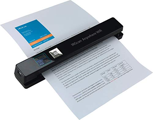 IRIScan Anywhere 5 WiFi, PC and Mac, Document Image Portable Mobile Color Scanner, Black 458846