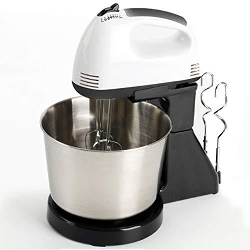 CHQY Fouet électrique, mélangeur de bouffeur de Lait Portable à 7 Vitesses, gâteau à la crème à gâteaux, Batteur de Bureau pour Machines d'oeuf pour la Cuisine, avec Bol Silver
