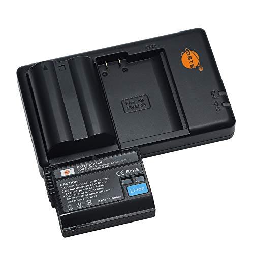 EN-EL15 EL15a EL15b - Batería de repuesto recargable y cargador dual compatible con Nikon MB-D11 D12 D15 D17, Z6, Z7, D7200, D7100, D750, D810, D800E, 1 V1 cámara réflex digital