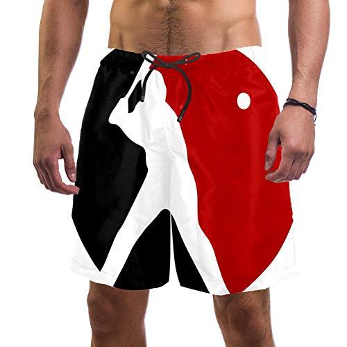 Lorvies Herren Baseball-Shorts, schnelltrocknend, Größe L Gr. XL, multi