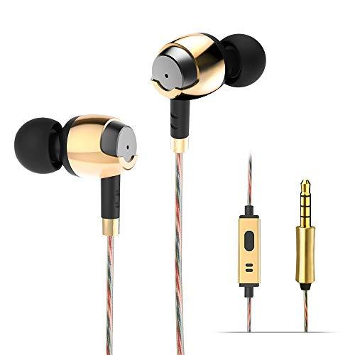 Wieppo Auriculares con Cable con Micrófono - Auriculares in-Ear con...