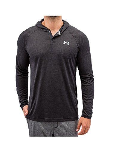 Under Armour Herren Fitness Sweatshirts Tech Popover Henley, Blk, M, 1274511
