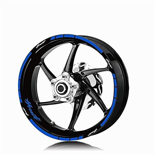 Etiqueta de Motocicleta Etiqueta Etiqueta de neumáticos Decalación Interior Exterior Rim Reflective Logo Decal Decal Kit Conjunto para Honda Hornet Hornet 600 160 900 (Color : XT LQ Hornet BLU)