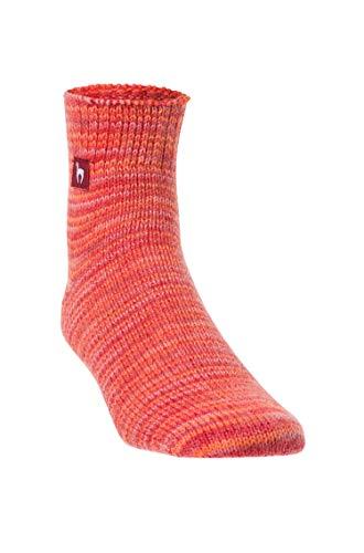 APU KUNTUR Alpaka Freizeit-Socken f�r Damen und Herren Haus-Str�mpfe aus rot-melierter Alpaca-Wolle