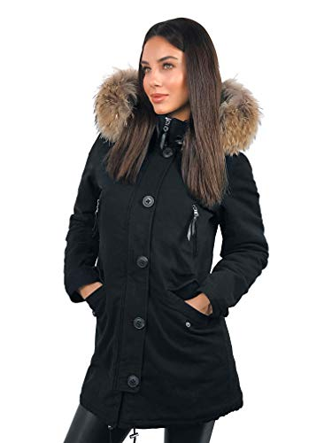 Jacket Women's Soventus Parka L Fashion Black MqGSVpLzU