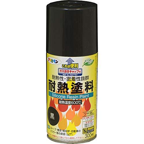 アサヒペン 耐熱塗料スプレー 300ML 黒