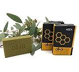 ABEA | 4er-Set grüne Olivenöl-Seife mit HONIG | 4x 125g (500g) | vegane Naturseife | Spar-Pack 3+1...