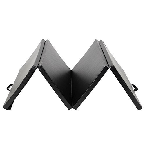 DREAMADE Weichbodenmatte klappbar,Große Gymnastikmatte Yogamatte, Klappmatte Turnmatte Fitnessmatte, 300 x 120 x 5 cm (Schwarz)