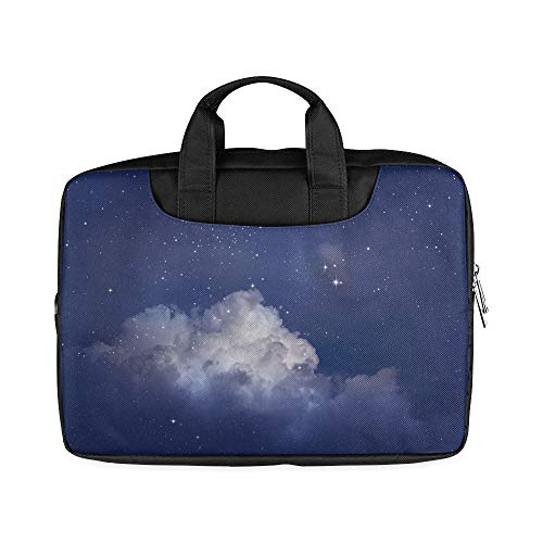 13 Inch Beautiful Night Star Sky Slim Laptop Briefcase with Handle Lightweight Ladies Laptop Case Fits MacBook Air Pro