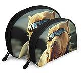 XCNGG Bolsa de almacenamiento Cool Pitbull Dog Bolsa de maquillaje de viaje portátil Impermeable Organizador de artículos de tocador Bolsas de almacenamiento