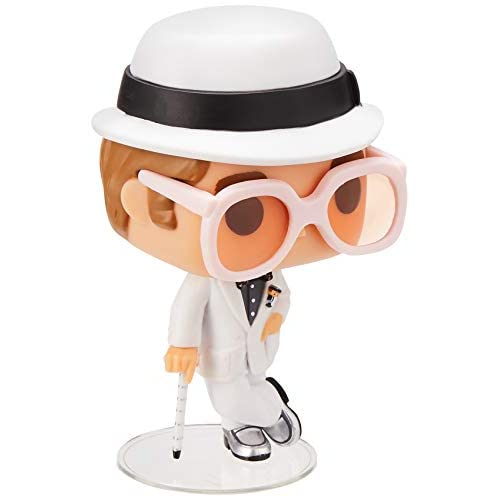 Funko- Rock Pop Vinile Rocks Elton John, 9 cm, 25320