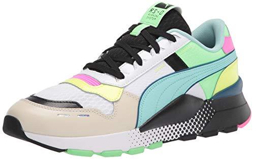 PUMA unisex adult 2.0 Wr Sneaker, Puma White-aruba Blue-vaporous Gray, 10.5 Women 12 Men US