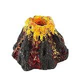 WEILAI Adorno En Forma De Volcán para Acuario, Burbuja De Aire, Piedra, Pecera, Bomba De Oxígeno, Bomba De Aire, Pecera, Juguetes