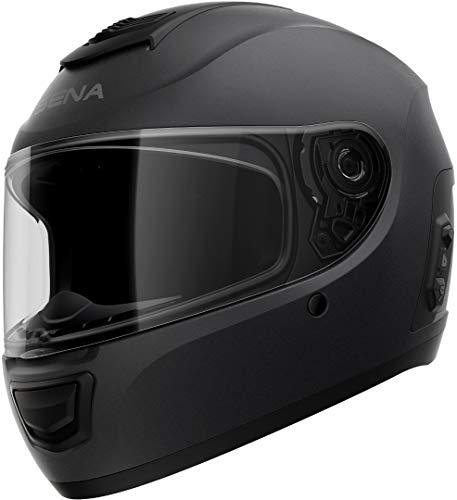 Sena MOVM-MB00L2 Momentum EVO - Casco integral Bluetooth con tecnología Mesh Intercom, negro mate, L tamaño, ECE