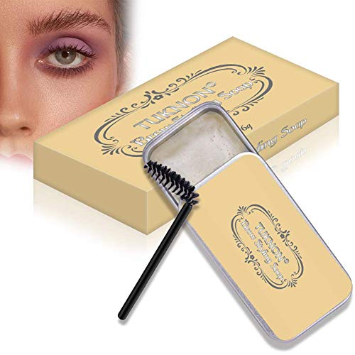 Eyebrow Shaping Soap, 3D Augenbrauen Make-up Gel, Augenbrauen Styling Seife, mit Pinsel Wasserdichte, für die Erstellung von 3D Brushed Up Eyebrows Wild Brauen Make-up