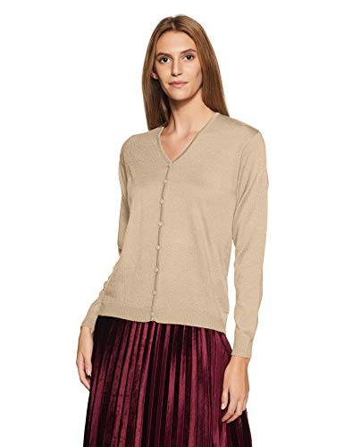 Qube By Fort Collins Women's Cardigan (702 SMU_Fawn_L)