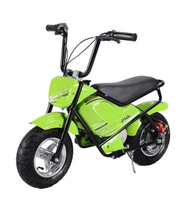 Mini moto eléctrica infantil 250w / mini scooter para niños de bateria/moto infantil electrica 24V 7AH (Verde)