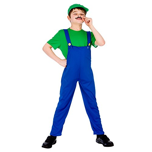 Funny Plumber (Green) - Kids Costume 11 - 13 years