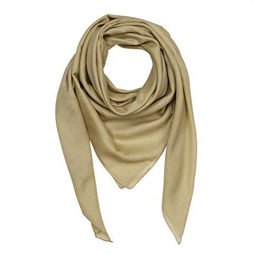 Superfreak Baumwolltuch - braun - beige - quadratisches Tuch
