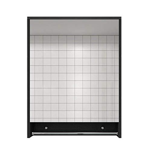 XCJJ Wand-Badezimmerschrank mit Spiegel, Massivholzwaschbecken Zubehörschrank, mit Handtuchhalter, Medizinschrank spart Platz,60 * 75
