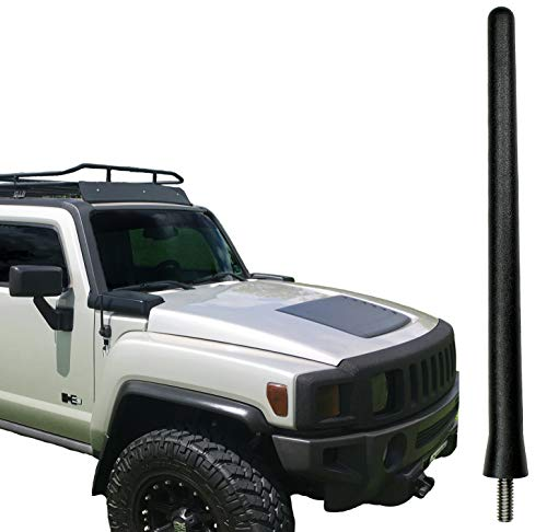AntennaMastsRus - The Original 6 3/4 Inch is Compatible with Hummer H3 (2006-2010) - Car Wash Proof Short Rubber Antenna - Internal Copper Coil - Premium Reception - German Engineered
