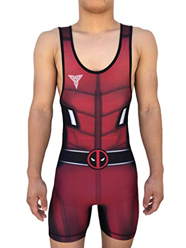 TRI-TITANS Funny Guy Wrestling Singlet Youths and Adult Mens Sizes (Large: 165lbs-185lbs)
