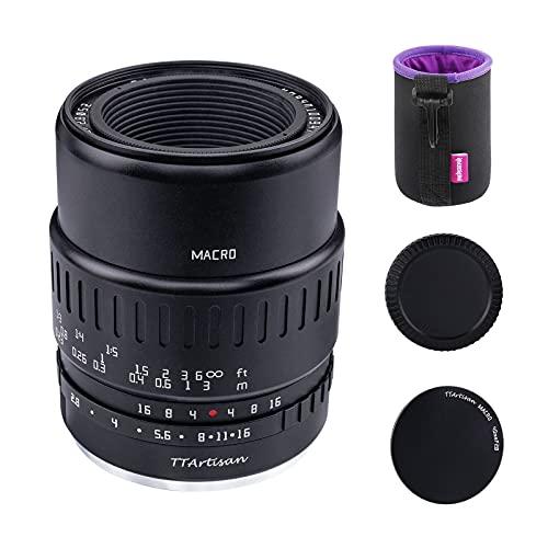 TTartisan 40mm F2.8 Makroobjektiv, kompatibel mit Fuji X-Mount X-A1 X-A10 X-A2 X-A3 A-at X-M1 XM2 X-T1 X-T3 X-T10 X-T2 X-T20 X- T30 X-Pro1 X-Pro2 X-E1 X-E2 E-E2s X-E3