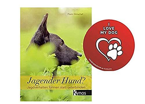 Jagende hond? : Jachtgedrag vormen in plaats van het verbonden boek + I Love My Dog Sticker by Collectix