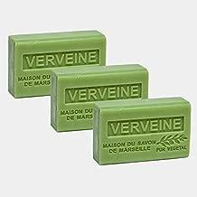 French Soap, Set of 3 x 125g - Verbena - Shea Butter - La Maison du Savon de Marseille