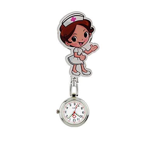 Relojes de Enfermera con Clip Relojes Bolsillo para Mujer Medicina