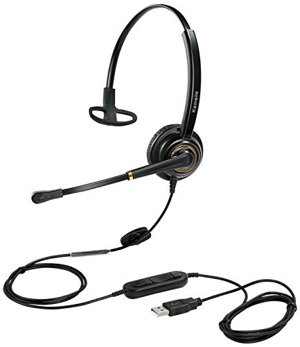 conference headsets 2 USB Headset with Microphone Noise Cancelling and Volume Controls, Computer Headphone Headset with Voice Recognition Mic for UC Softphones Teams Business Skype Lync Zoom Conference Online Course etc