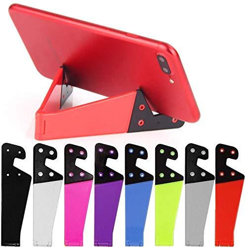 8 Pezzi Di Supporto Per Telefono Cellulare Universale a Colori, Tasca Pieghevole Portatile, a Forma Di v, Adatto Per Ipad, Tablet, e-Reader