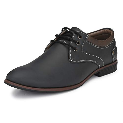 Centrino Men's 7956 Black Formal Shoes-9 UK (43 EU) (10 US) (7956-03)