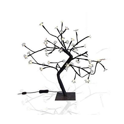 lefeindgdi Lámpara de mesa con 48 luces LED IP20, funciona con pilas, color blanco cálido