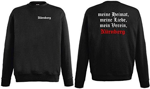 Nürnberg Herren Sweatshirt Meine Heimat Meine Liebe Mein Verein PulliM