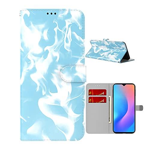Funda para Samsung Galaxy M21/M30s Funda de Cuero PU, Magníficos Colores Carcasa con Abatible a Prueba de Golpes Cierre Magnético Fundas para Samsung Galaxy M21/M30s-Azul