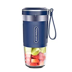 Compact Design and Lightweight: This mini cordless blender designed for maximum portability. Weighs only 1lb. You can put it in your bag, briefcase or backpack, great for office and travel. Only need the 40s to make a cup of juice, ensuring you get e...
