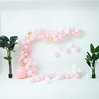 Balloon Arch & Garland Kit - 106 Pink, White, Confetti, Gold Balloons, Decorating Strip, Hand Pump, Wedding, Baby Shower, Graduation, Party Decorations